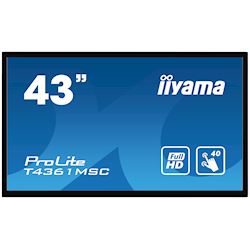 "iiyama ProLite monitor T4361MSC-B1 43"" Projective Capacitive 40pt touch, edge to edge touch screen"