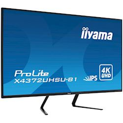 iiyama Prolite monitor X4372UHSU-B1 IPS LED, UHD, Picture-by-Picture, Dual DisplayPort, USB thumbnail 2