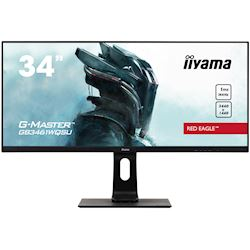 "iiyama G-Master Red Eagle Ultra Wide gaming monitor GB3461WQSU-B1 34"" Black, 144hz, 3440x1440 res, 1ms, FreeSync, HDMI/DisplayPort with USB Hub"