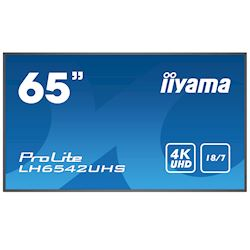 "iiyama Prolite monitor LH6542UHS-B1 65"" IPS panel, Slim Bezel, 4K UHD, 18/7, Landscape/Portrait with Intel® SDM slot"