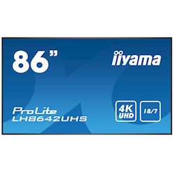 "iiyama ProLite monitor LH8642UHS-B1 86"", IPS, 4K UHD, 18/7 Hours Operation, 10W Speakers, Portrait/Landscape, Intel® SDM slot"