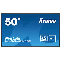 "iiyama Prolite monitor LH5042UHS-B1 50"" Digitial Signage, VA panel, Slim Bezel, 4K UHD, 18/7, Landscape/Portrait, with Intel® SDM slot"