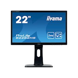 "iiyama ProLite monitor B2282HS-B1 22"" Full HD Black, HDMI, Height Adjustable"