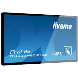 "iiyama Prolite TF4338MSC-B1AG 43"" Black, IPS, Anti Glare, Full HD,  Projective Capacitive 12pt Touch, 24/7, Landscape/Portrait/Face-up, Open Frame, IPX1 rated thumbnail 3"