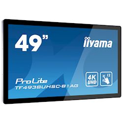 "iiyama Prolite TF4938UHSC-B1AG 49""  Black, IPS, Anti Glare, 4K UHD,  Projective Capacitive 12pt Touch, 24/7, Landscape/Portrait/Face-up, Open Frame, IPX1 rated thumbnail 1"