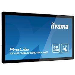 "iiyama Prolite TF4938UHSC-B1AG 49""  Black, IPS, Anti Glare, 4K UHD,  Projective Capacitive 12pt Touch, 24/7, Landscape/Portrait/Face-up, Open Frame, IPX1 rated thumbnail 3"