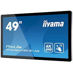 "iiyama Prolite TF4938UHSC-B1AG 49""  Black, IPS, Anti Glare, 4K UHD,  Projective Capacitive 12pt Touch, 24/7, Landscape/Portrait/Face-up, Open Frame, IPX1 rated thumbnail 2"