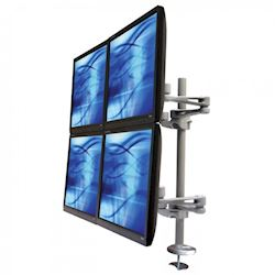 Ergomounts EMUV440TD UltraView 400 Quad Monitor Through Desk Arm