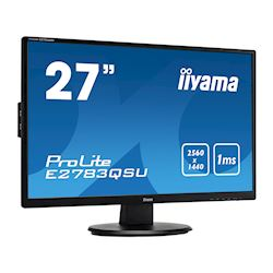 "iiyama ProLite monitor E2783QSU-B1 27"" 2560x1440, FreeSync, Black, HDMI, Display Port thumbnail 1"