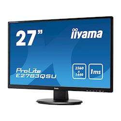 "iiyama ProLite monitor E2783QSU-B1 27"" 2560x1440, FreeSync, Black, HDMI, Display Port thumbnail 2"