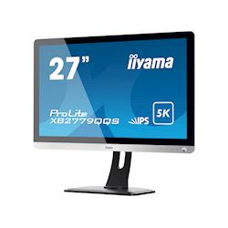 "iiyama Prolite XB2779QQS-S1 27"" IPS, 5K3K 5120 x 2880, Silver, HDMI,  Display Port, Height Adjustable, Edge to Edge Glass design, PiP/PbP thumbnail 2"