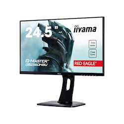 "iiyama G-Master Red Eagle gaming monitor GB2560HSU-B1 24.5"" Black, Ultra Slim Bezel, Full HD, 144Hz, 1ms, FreeSync, HDMI, Display Port, USB Hub thumbnail 2"